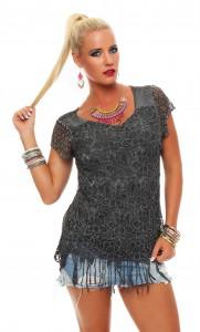 IKONA21 - Fashion - Damen - Oversize - Shirt - Bluse - Tunika 1/2-Arm