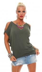 IKONA21 - Fashion - Damen - Oversize - Shirt - Bluse - Tunika - Top