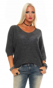 IKONA21 - Fashion - Damen - Oversize - Shirt - Pullover