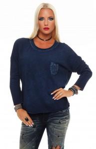 IKONA21 - Fashion - Damen - Oversize - Shirt - Bluse - Tunika - Longshirt - Sweatshirt - Pullover