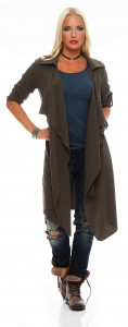 IKONA21 - Fashion - Damen - Oversize - Shirt - Bluse - Tunika - Longshirt - Jacke - Mantel