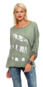 IKONA21 - Fashion - Damen - Oversize - Shirt - Bluse - Tunika - Longshirt