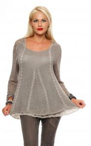 IKONA21 - Fashion - Damen - Oversize - Shirt - Bluse - Tunika - Strickpulli - Longshirt