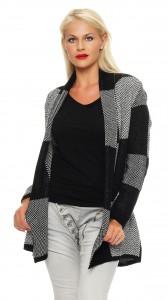 IKONA21 - Fashion - Damen - Oversize - Strickjacke - Longjacke