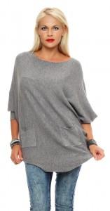 IKONA21 - Fashion - Damen - Oversize - Shirt - Strickpulli - Boxy-Pully - Pullover