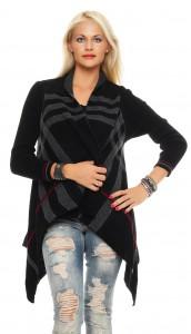 IKONA21 - Fashion - Damen - Oversize - Strick - Jacke - Longjacke