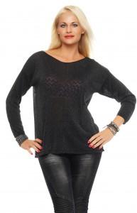 IKONA21 - Fashion - Damen - Oversize - Pulli - Strick - Shirt - Bluse - Tunika