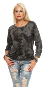 IKONA21 - Fashion - Damen - Oversize - Shirt - Pulli - Sweatshirt - Bluse - Tunika