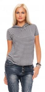 IKONA21 Fashion Damen Oversize Shirt Hoody Bluse Longshirt