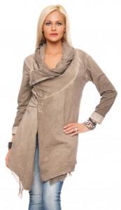 IKONA21 Fashion Damen Oversize Shirt Jacke Mantel Longjacke