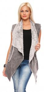 IKONA21 Fashion Damen Oversize Shirt Fellweste