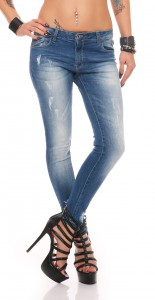 IKONA21 Fashion Damen Hüft Röhren Slim Fit Skinny Stretch Jeans Hose
