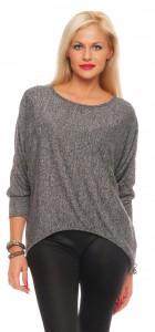 IKONA21 Fashion Damen Oversize Shirt Bluse Tunika Longshirt Fledermausarm  Batwing