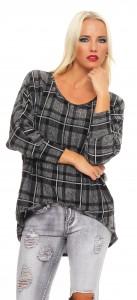 IKONA21 Fashion Damen Oversize Shirt Hemd Bluse Tunika Longshirt