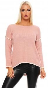 IKONA21 Fashion Damen Oversize Shirt Sweatshirt Pulli Stricktunika Bluse Tunika Longshirt