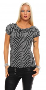 IKONA21 Fashion Damen Shirt Bluse Tunika Longshirt