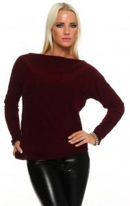 IKONA21 Fashion Damen Oversize Shirt Batwing Pulli Sweatshirt Bluse Tunika