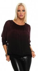 IKONA21 Fashion Damen Oversize Shirt Bluse Tunika Batwing Longshirt