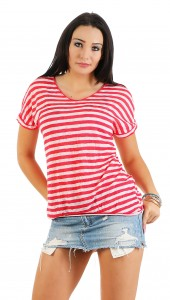 IKONA21 – Fashion Italy  Damen Shirt Bluse Tunika Longshirt Onesize S M L XL 36 38 40 42 44   500 614